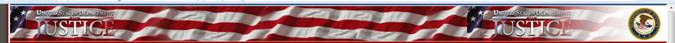 Red, White and Blue DOJ Banner